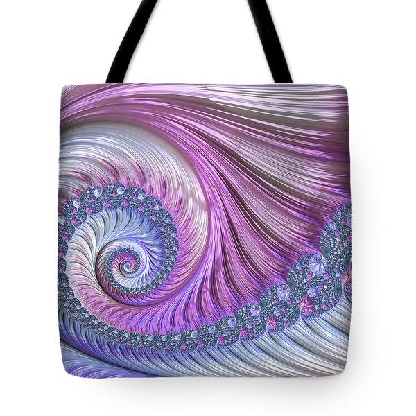 Opal Nautilus Tote Bag by Susan Maxwell Schmidt