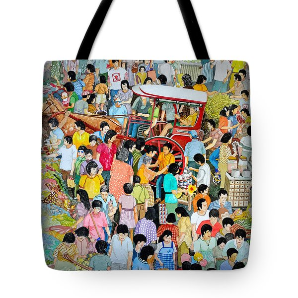 Open Air Street Market Metro Manila Tote Bag