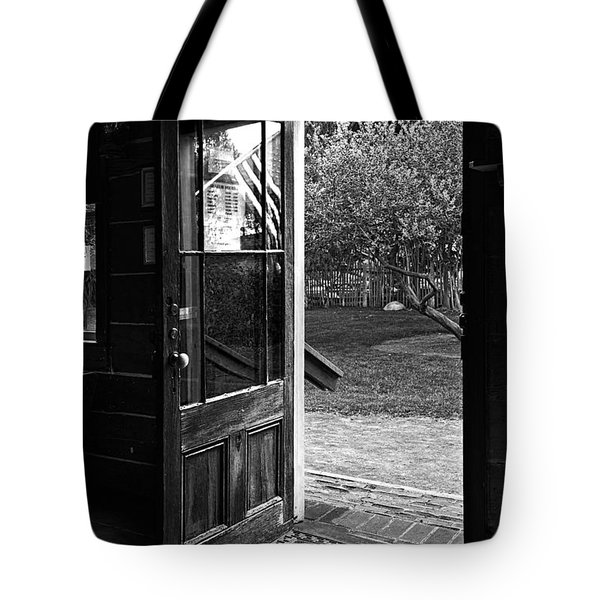 Open Door B-w Tote Bag by Christopher Holmes