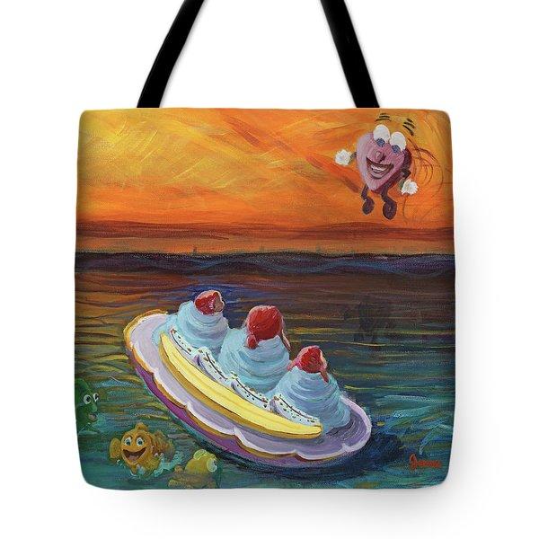 Open Heart Tote Bag