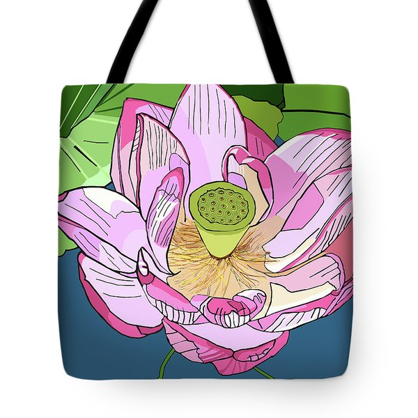 Open Lotus Tote Bag by Jamie Downs