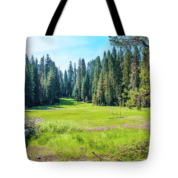 Tote Bag featuring the photograph Open Meadow- by JD Mims