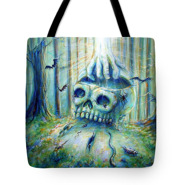Tote Bag featuring the painting Open Mind by Heather Calderon