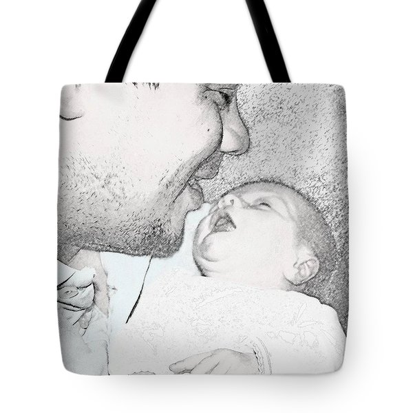 Open Mouth Kiss Tote Bag by Ellen O'Reilly