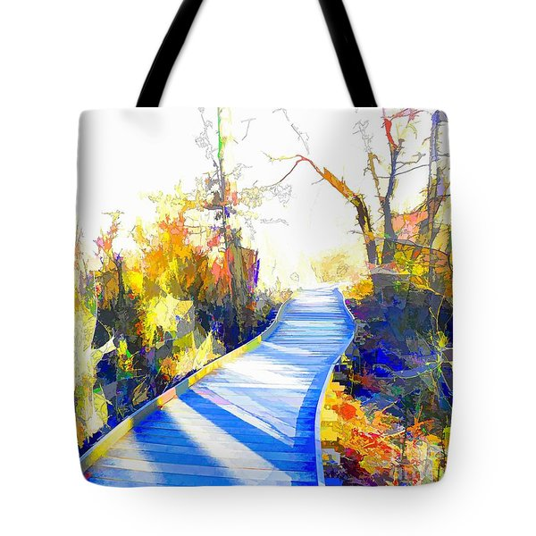 Open Pathway Meditative Space Tote Bag