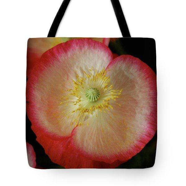 Open Poppy Tote Bag