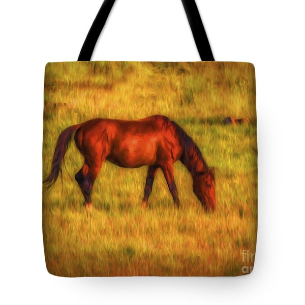 Tote Bag featuring the photograph Open Range  ... by Chuck Caramella