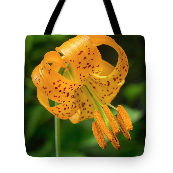 Tote Bag featuring the photograph Open Tiger Lily by Jean Noren