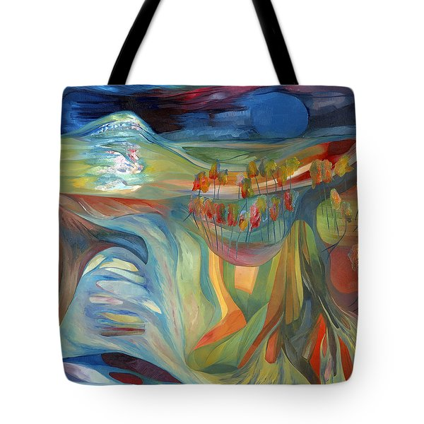 Tote Bag featuring the painting Open To Receive The Light by Linda Cull