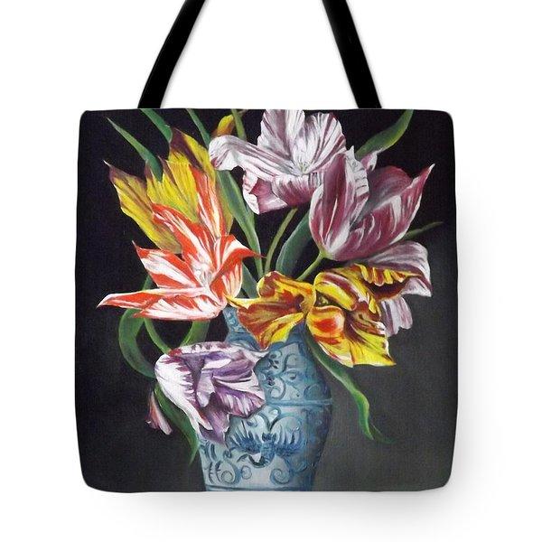 Open Tulips Tote Bag