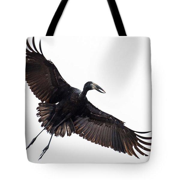 Openbill Stork Flying, Tarangire Tote Bag