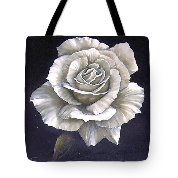 Tote Bag featuring the painting Opened Rose by Natalia Tejera