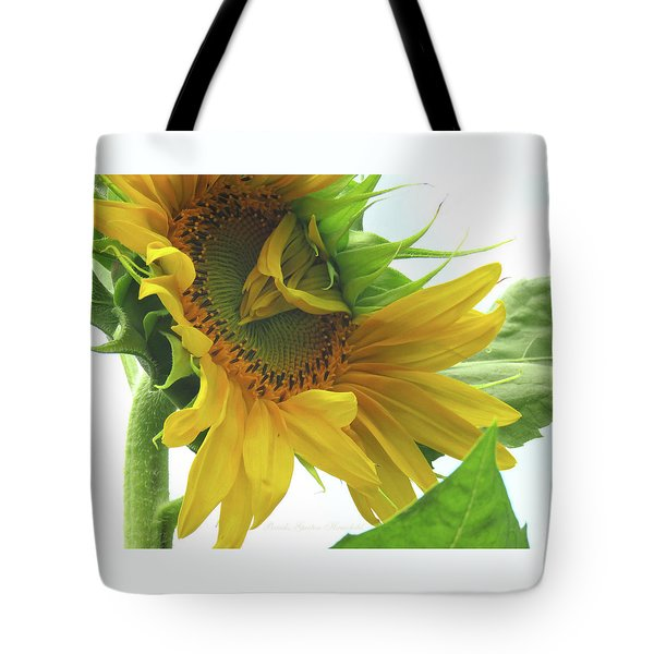 Opening Day - Sunflower - Floral Photography Tote Bag