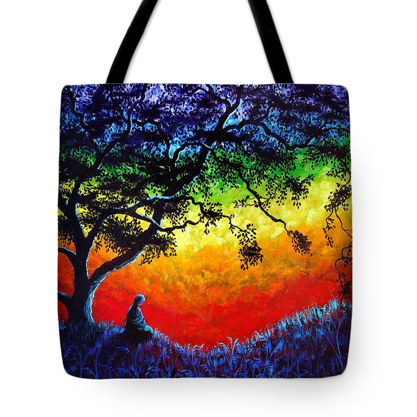 Opening The Chakras Meditation Tote Bag by Laura Iverson