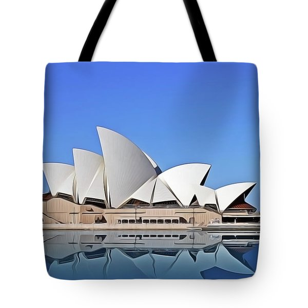 Tote Bag featuring the painting Opera House by Harry Warrick
