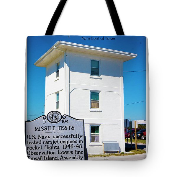 Operation Bumblebee Control Tower Tote Bag by Betsy Knapp