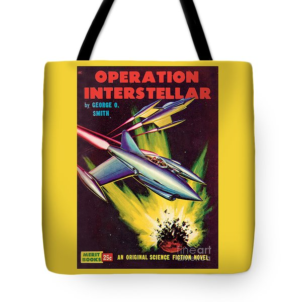 Tote Bag featuring the painting Operation Interstellar by Malcolm Smith