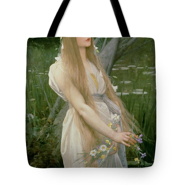 Ophelia Tote Bag by Jules Joseph Lefebvre