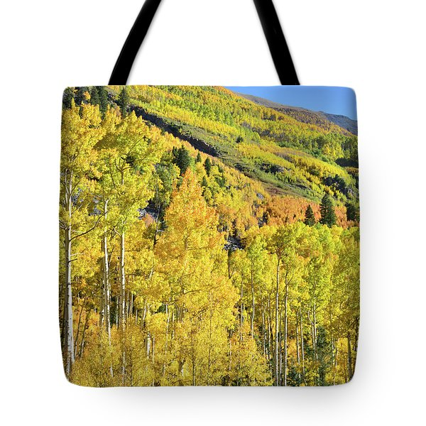 Tote Bag featuring the photograph Ophir Road Hillside by Ray Mathis