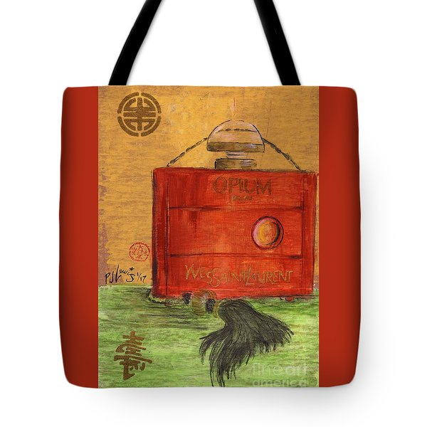 Tote Bag featuring the painting Opium by P J Lewis