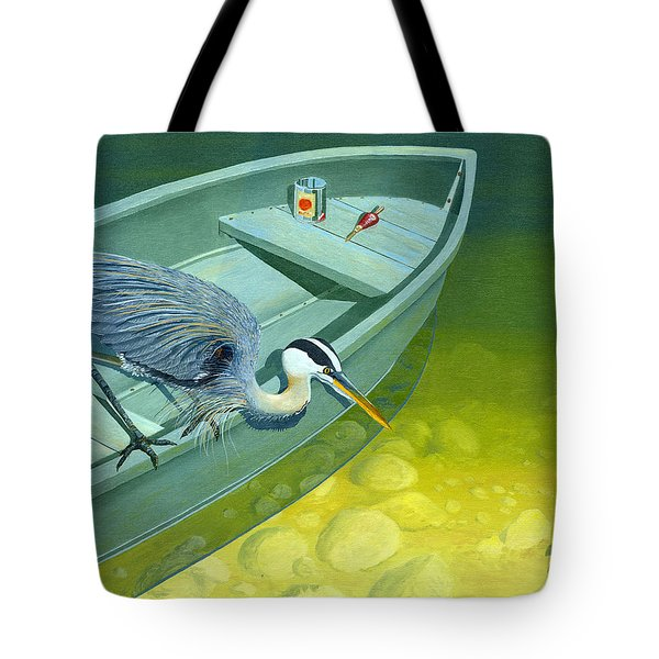 Opportunity-the Great Blue Heron Tote Bag by Gary Giacomelli