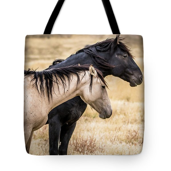 Opposites Attract Tote Bag by Mary Hone