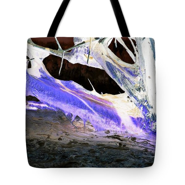 Oppostracts 17 - Dripping In Purple Tote Bag