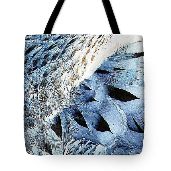 Blue Limpkin Tote Bag