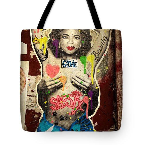 Oprah Winfrey Graffiti In New York  Tote Bag