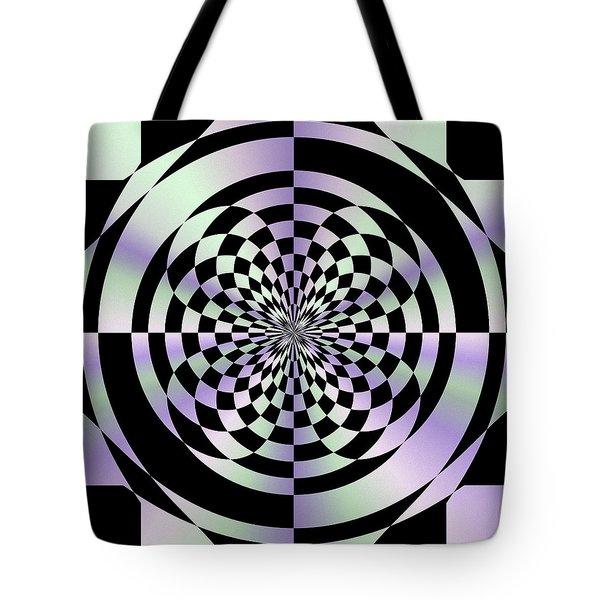 Optical Checkerboard Tote Bag