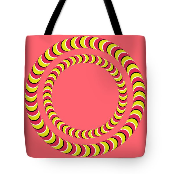 Optical Illusion Circle In Circle Tote Bag