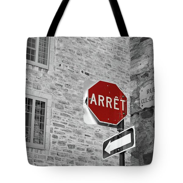 Optical Illusion, Quebec City Tote Bag by Brooke T Ryan