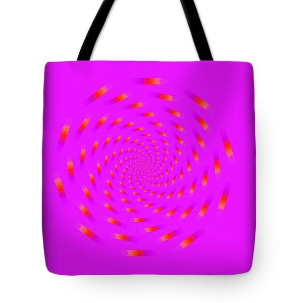 Optical Illusion Spinning Circle Tote Bag