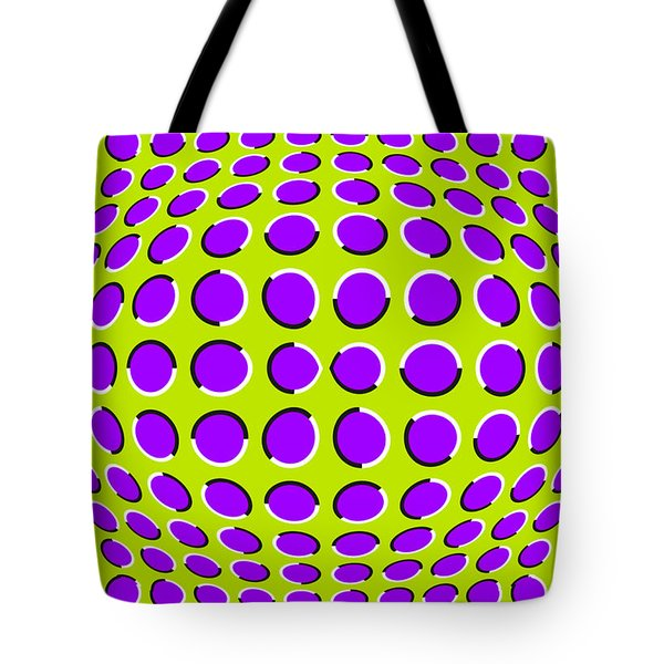 Optical Illusion The Ball Tote Bag