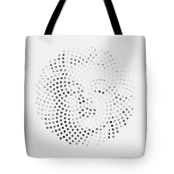 Tote Bag featuring the digital art Optical Illusions - Iconical People 1 by Klara Acel