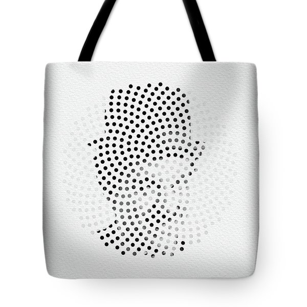 Tote Bag featuring the digital art Optical Illusions - Iconical People 2 by Klara Acel