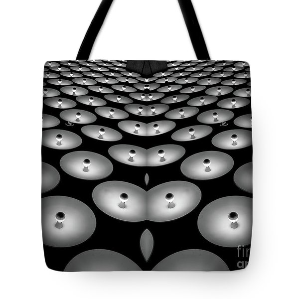 Optical Illusion Light Abstract Tote Bag