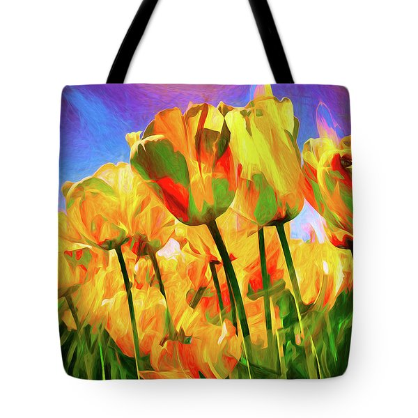 Tote Bag featuring the digital art Optimism by Pennie  McCracken