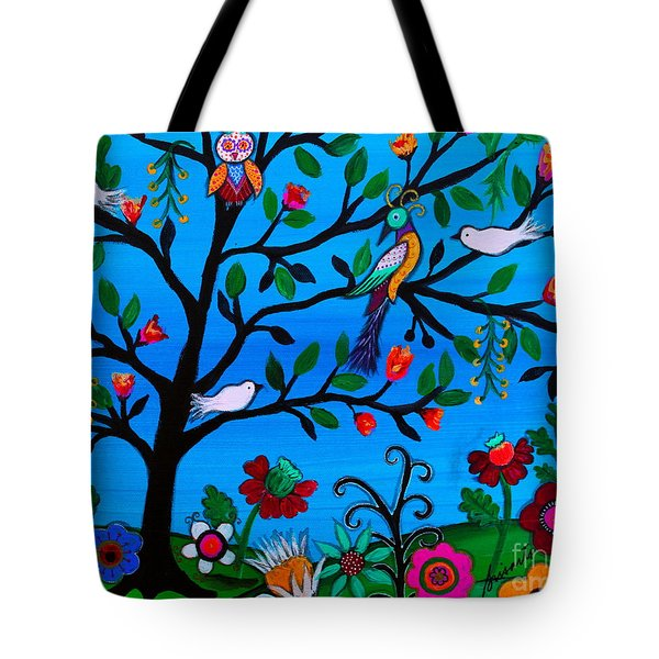 Tote Bag featuring the painting Optimism by Pristine Cartera Turkus