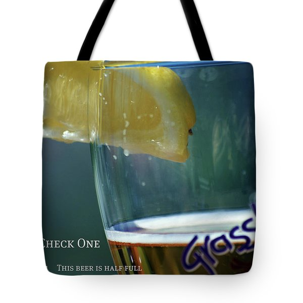 Optimist Quiz Tote Bag by Lisa Knechtel