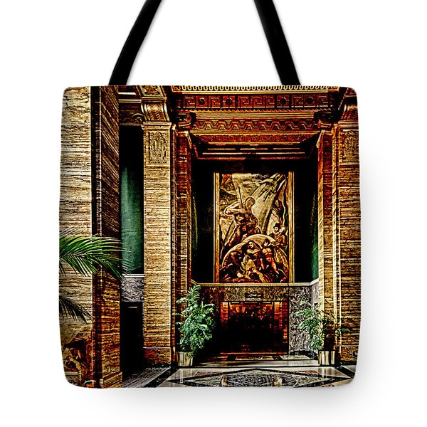 Tote Bag featuring the photograph Opulent Lobby Sce by Joseph Hollingsworth