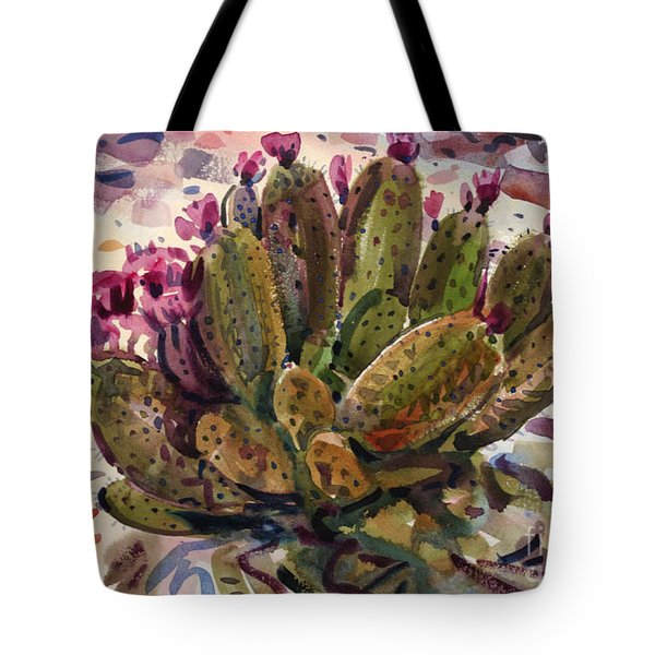 Opuntia Cactus Tote Bag by Donald Maier