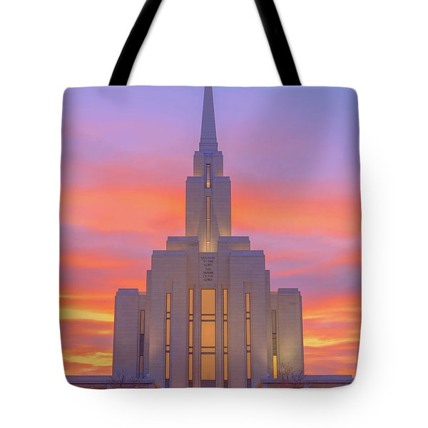 Oquirrh Mountain Temple IIi Tote Bag by Chad Dutson