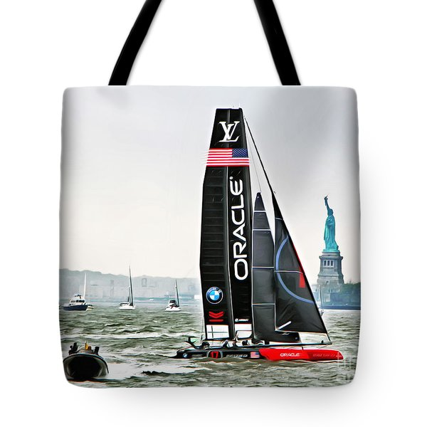 Oracle Team Usa America's Cup New York 2 Tote Bag
