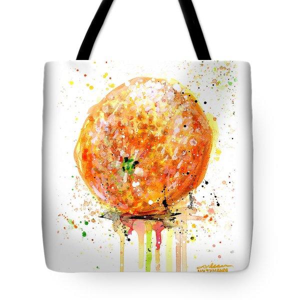 Orange 1 Tote Bag