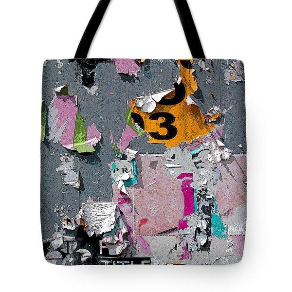 Orange 3 Tote Bag