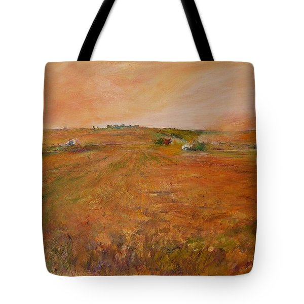 Orange Afternoon  Tote Bag by Helen Campbell
