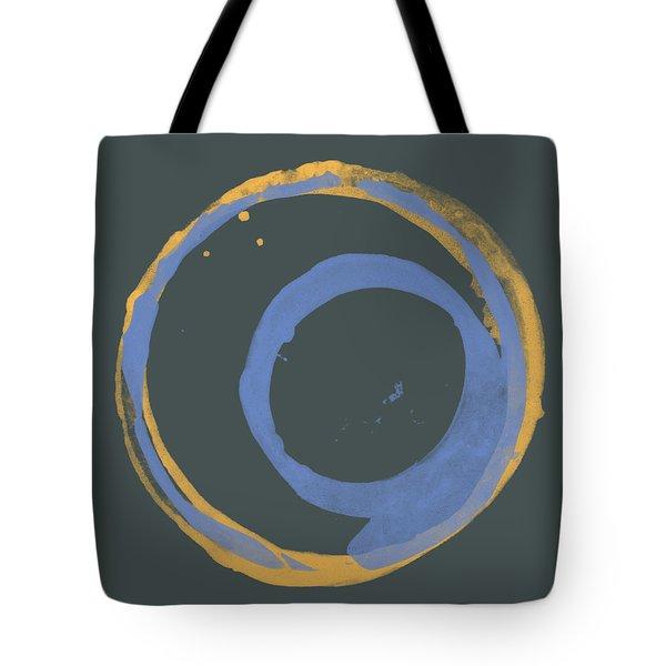Orange And Blue 3 Tote Bag by Julie Niemela