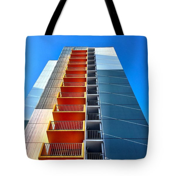 Orange And Blue Lookup Tote Bag