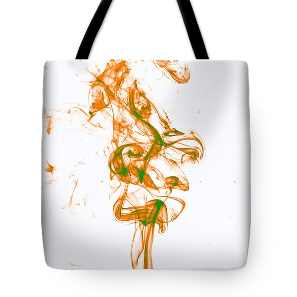 Orange And Green Tote Bag